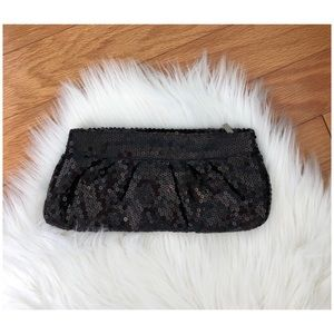 Black sequined evening/cruise/prom/wedding clutch